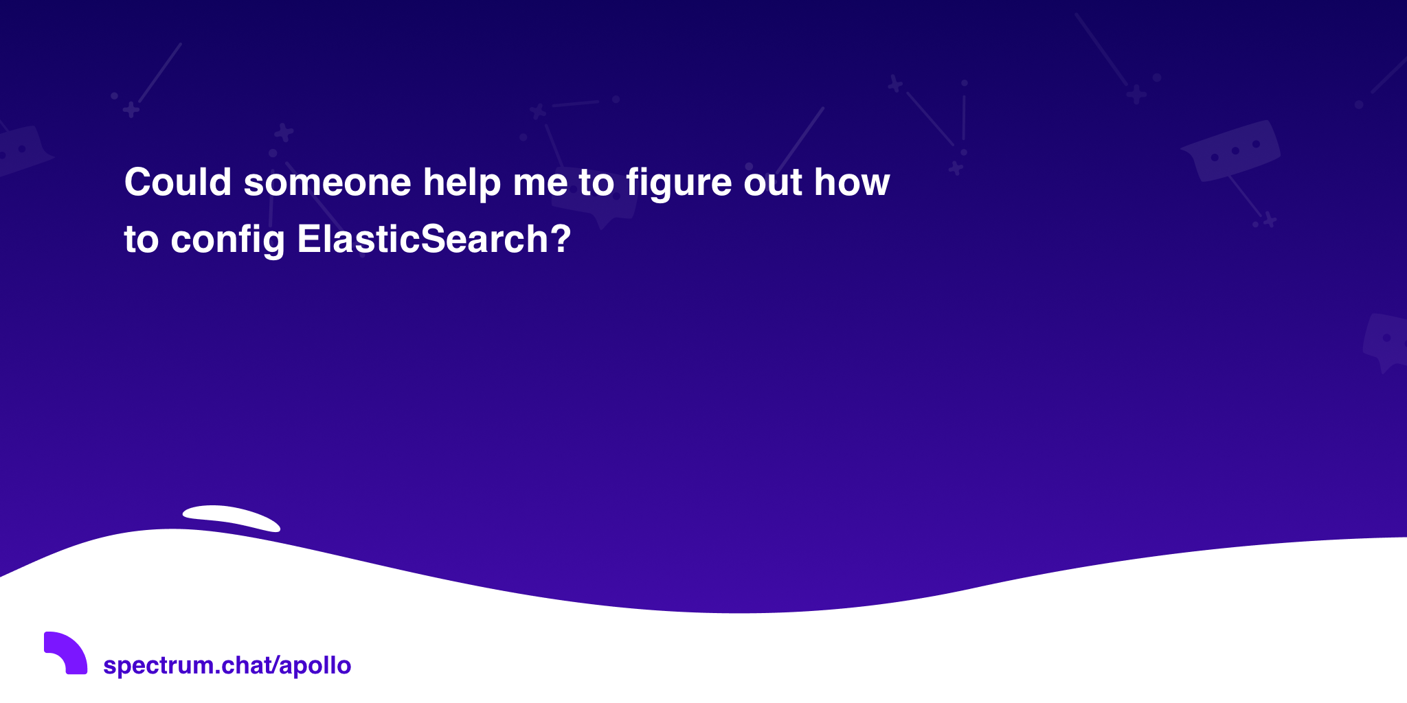 Could someone help me to figure out how to config ElasticSearch