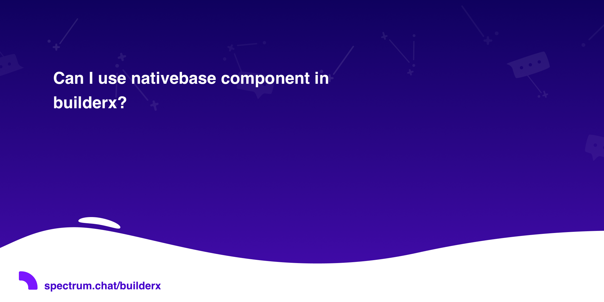 Can I use nativebase component in builderx? · BuilderX