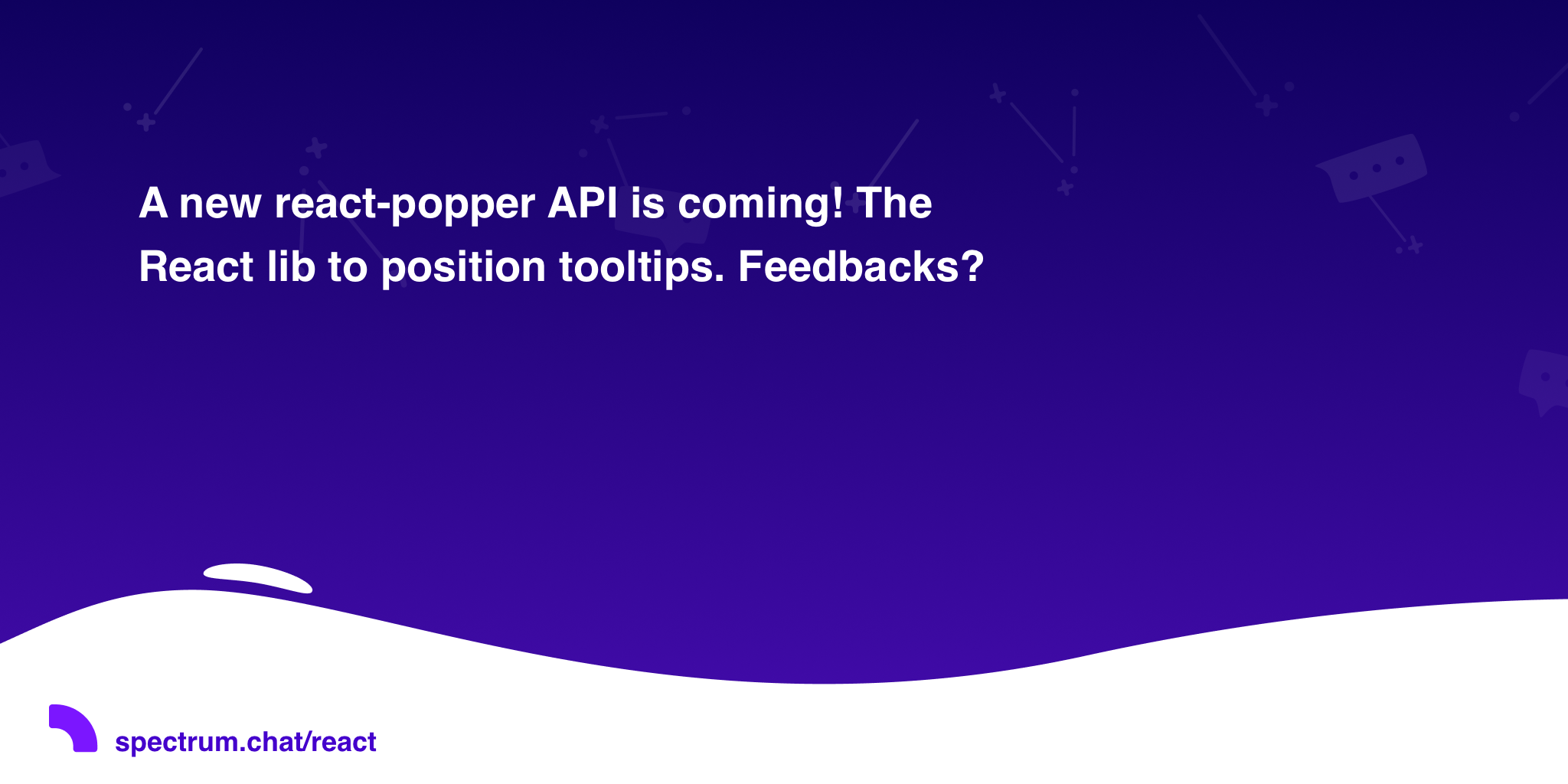 A new react-popper API is coming! The React lib to position tooltips