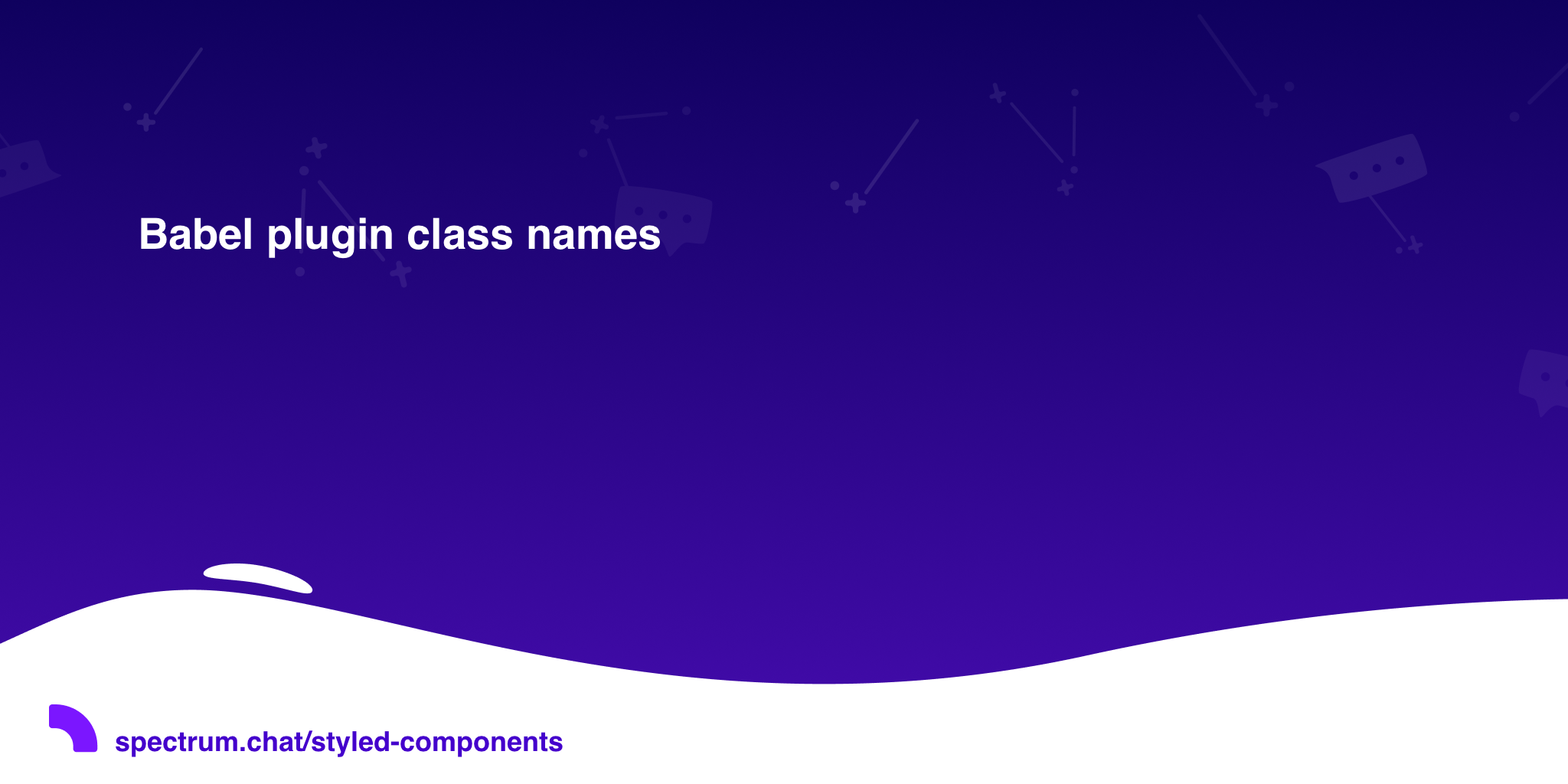 Babel plugin class names · styled-components