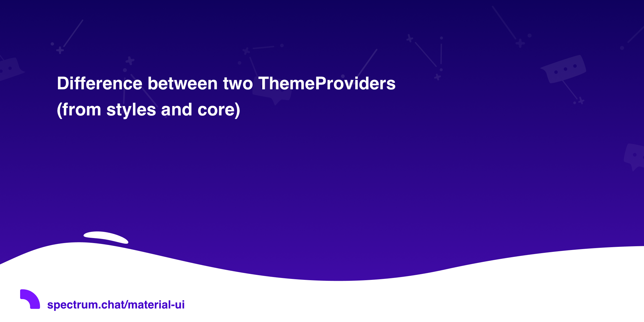 Difference between two ThemeProviders (from styles and core