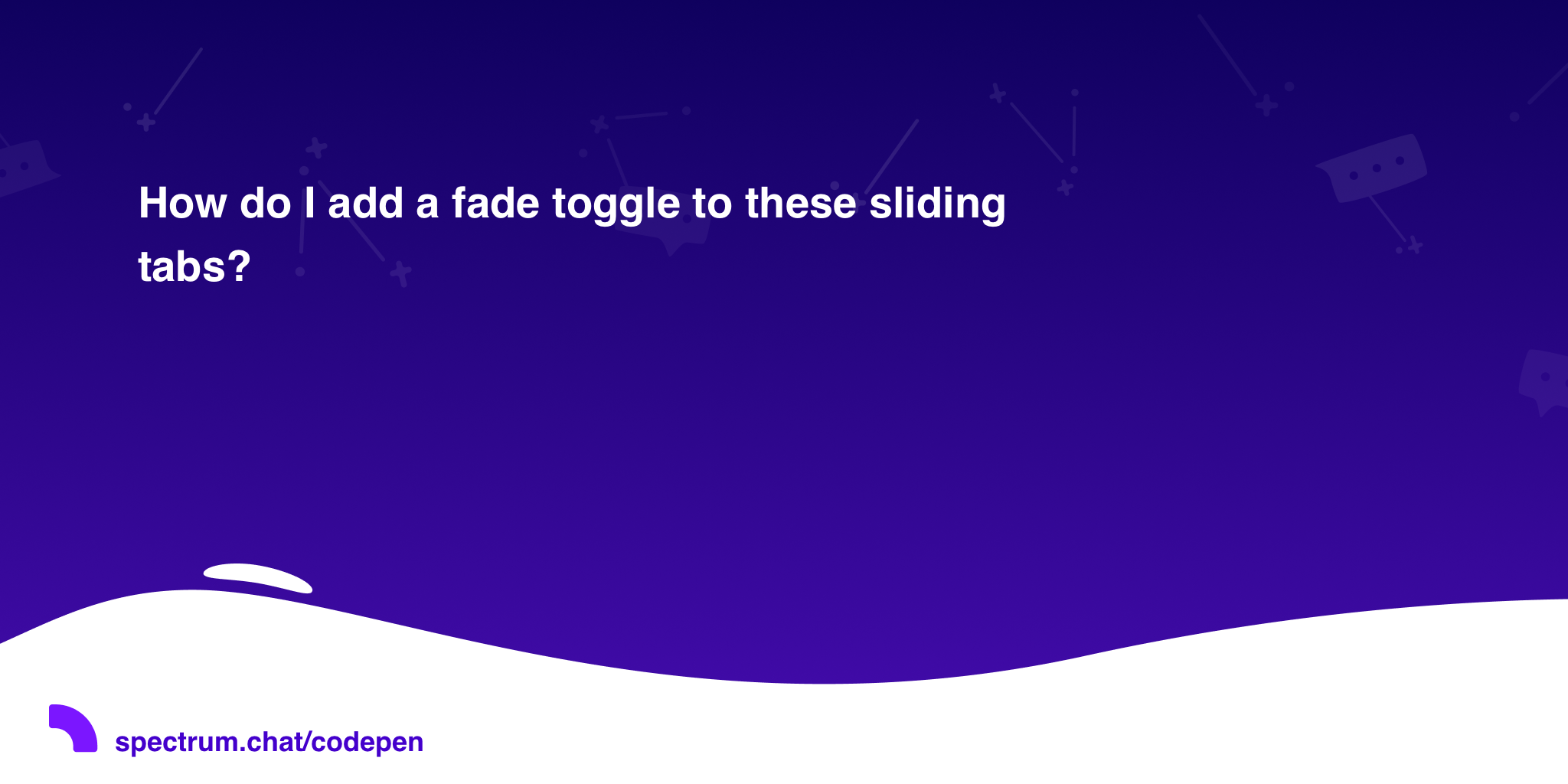 How do I add a fade toggle to these sliding tabs? · CodePen