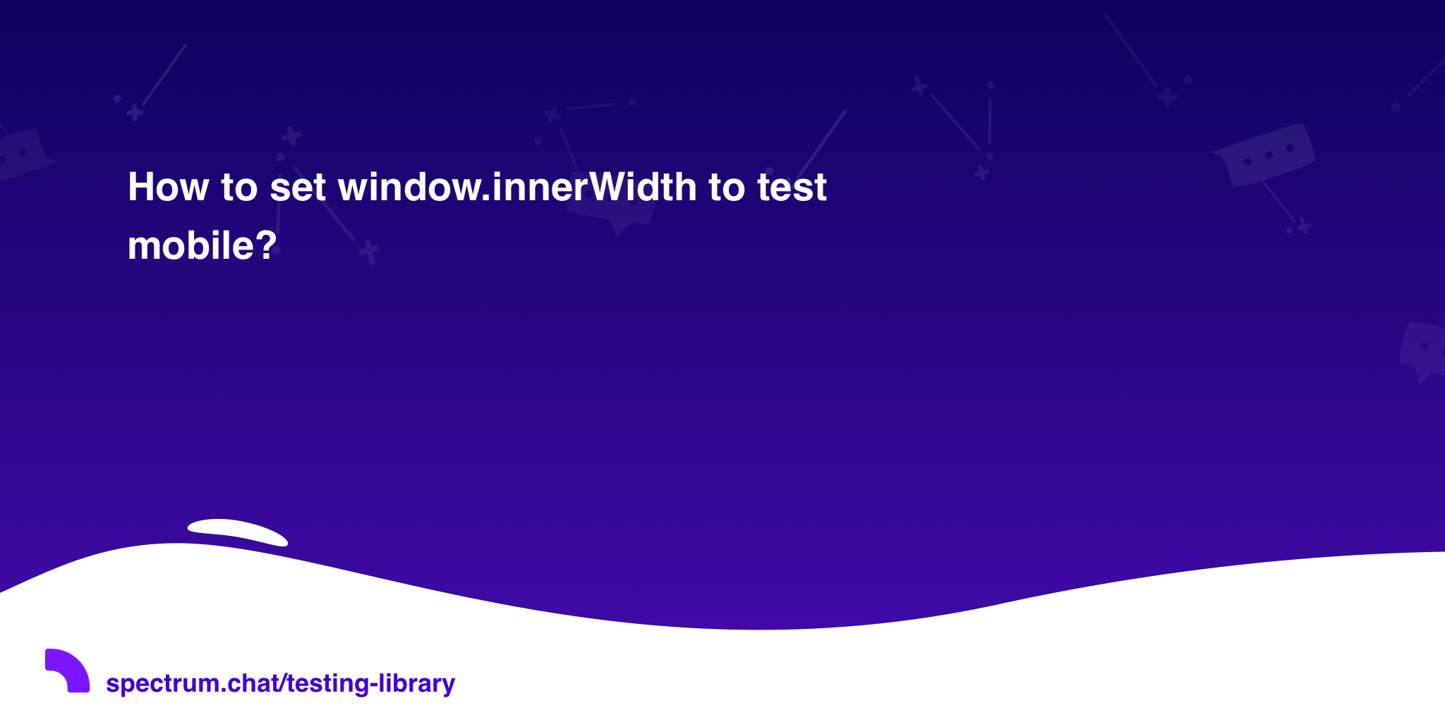 How to set window innerWidth to test mobile? · Testing Library