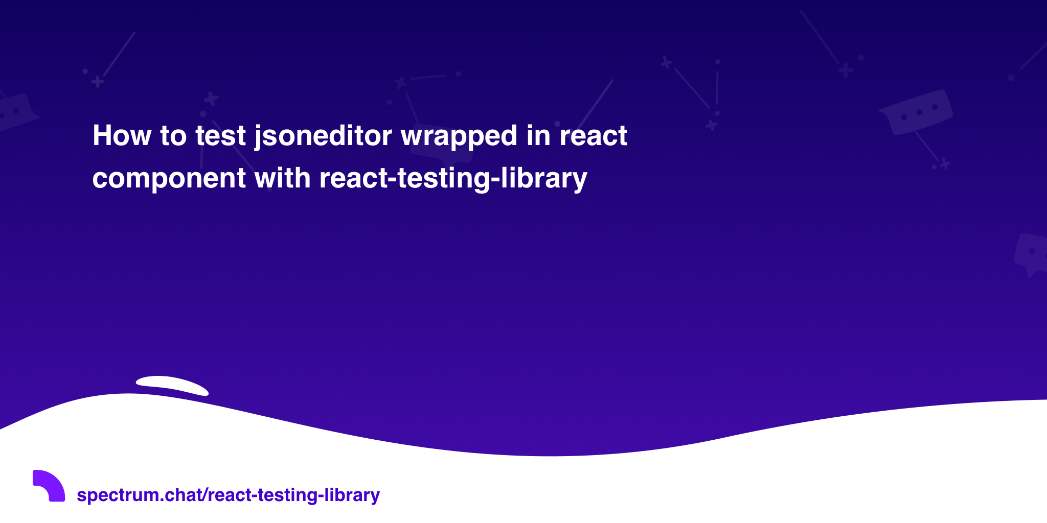 How to test jsoneditor wrapped in react component with react-testing