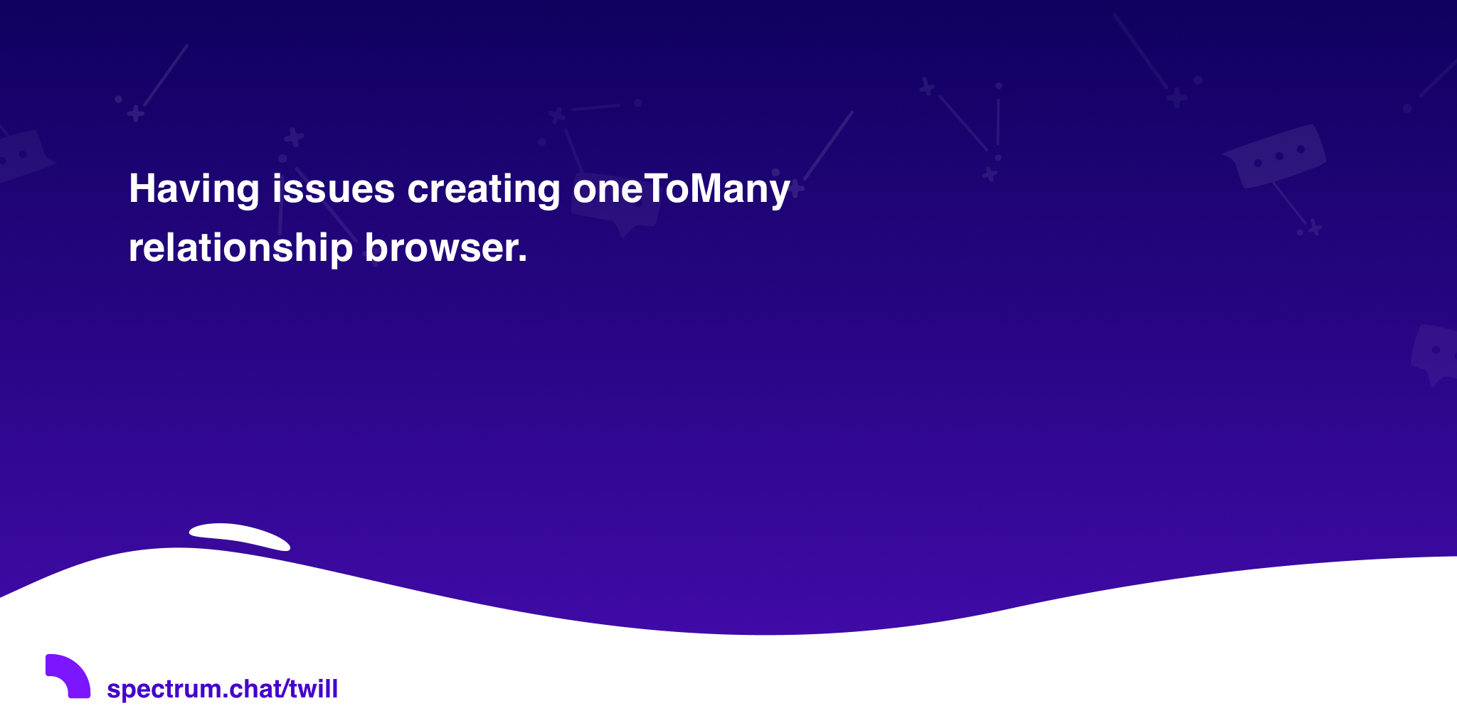 Having issues creating oneToMany relationship browser  · Twill