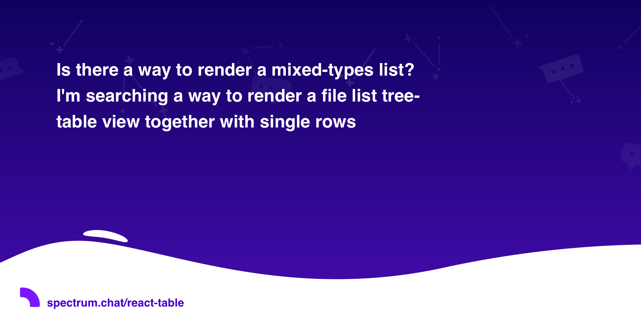Is there a way to render a mixed-types list? I'm searching a