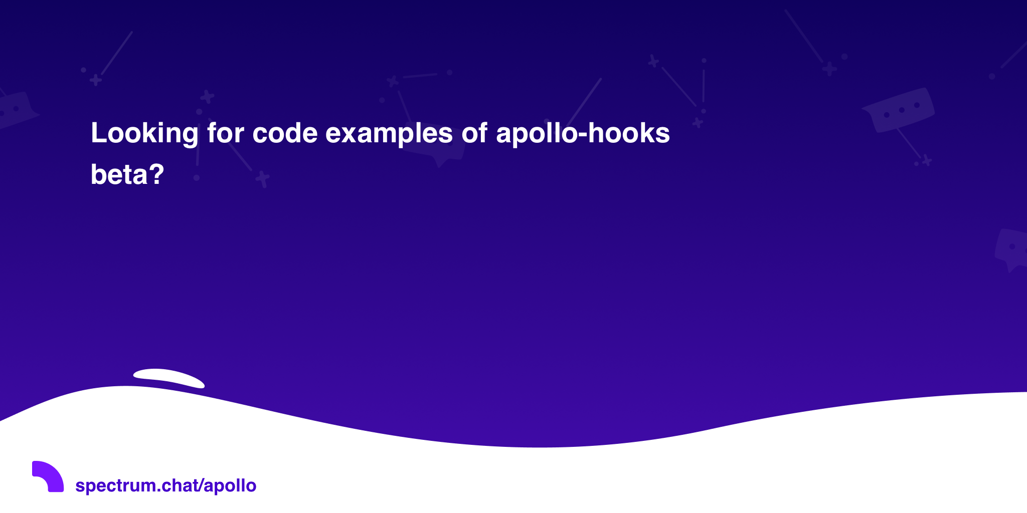 Looking for code examples of apollo-hooks beta? · Apollo