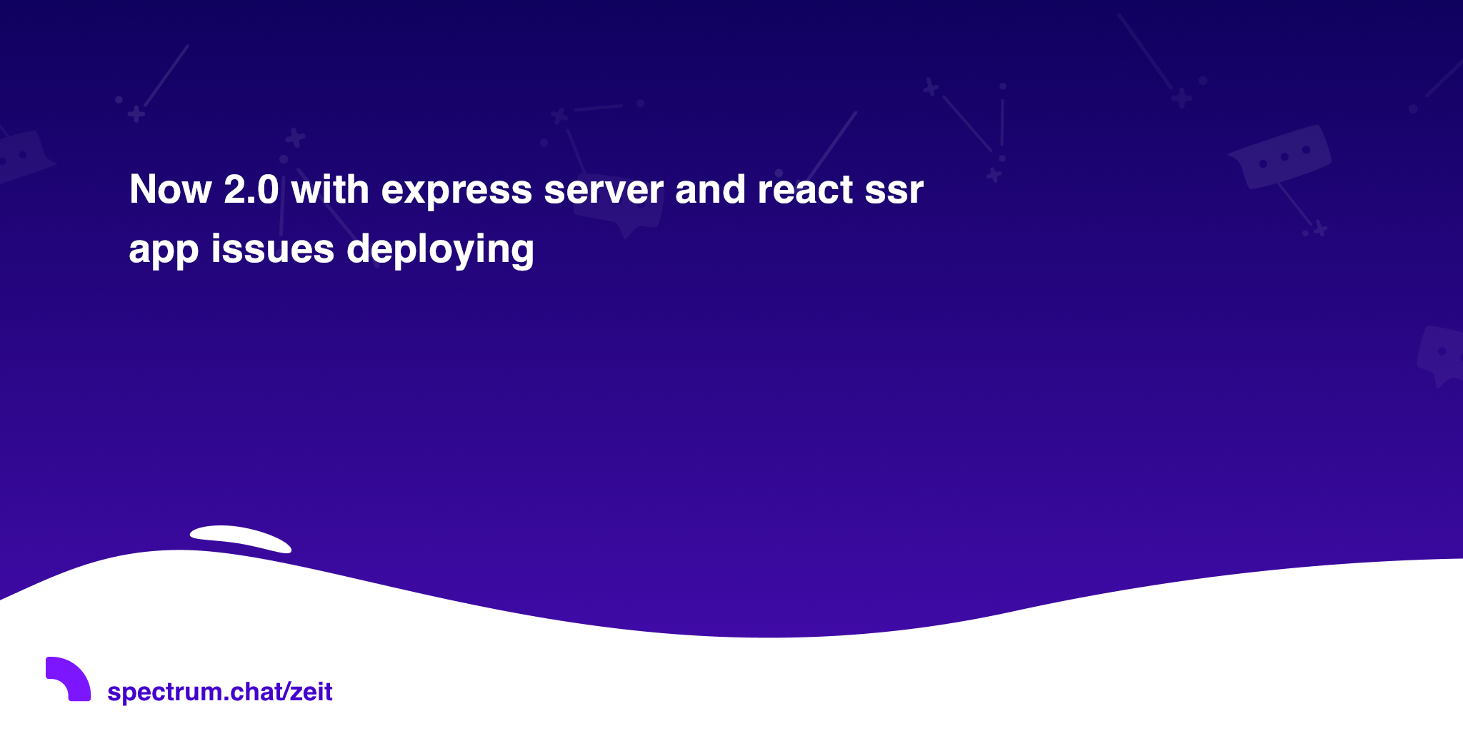 Now 2 0 with express server and react ssr app issues