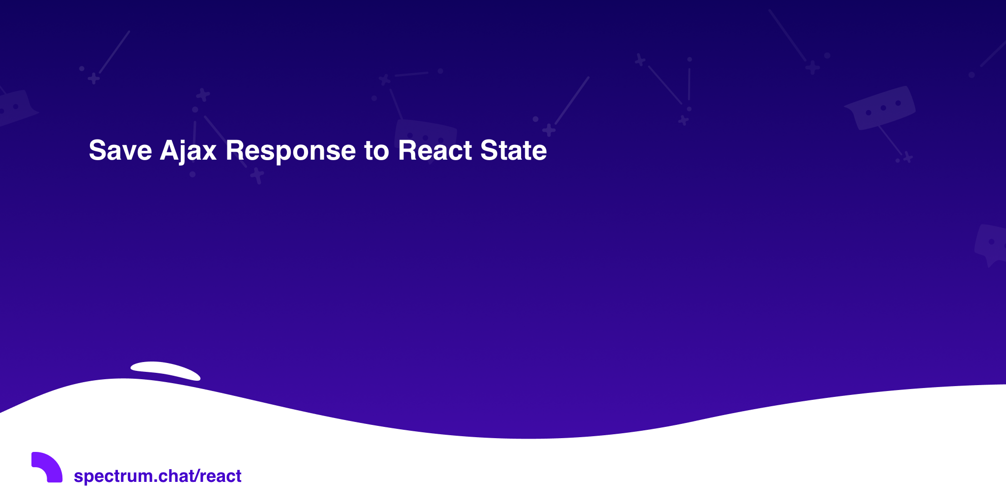 Save Ajax Response to React State · React