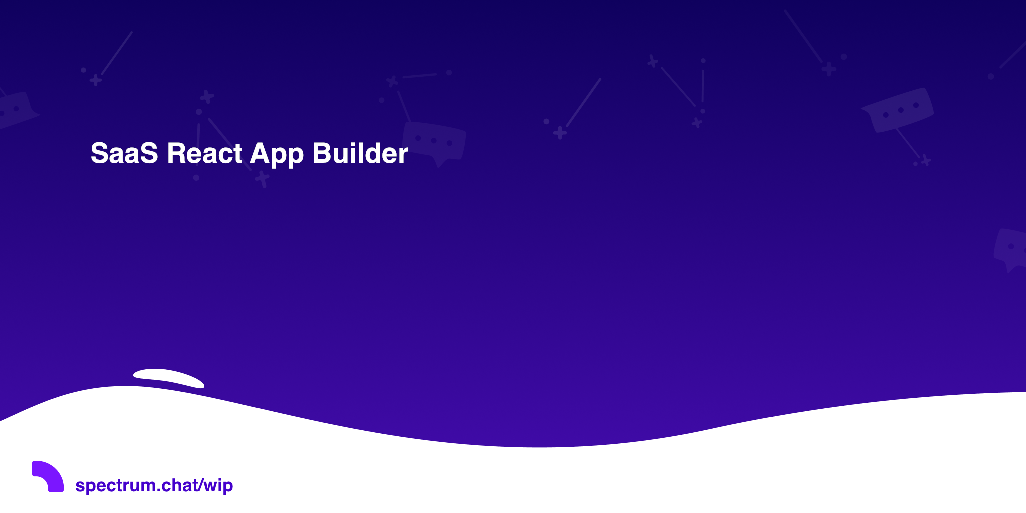 SaaS React App Builder · 🛠 Work In Progress