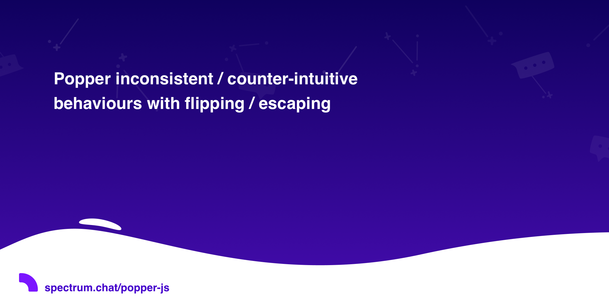 Popper inconsistent / counter-intuitive behaviours with flipping