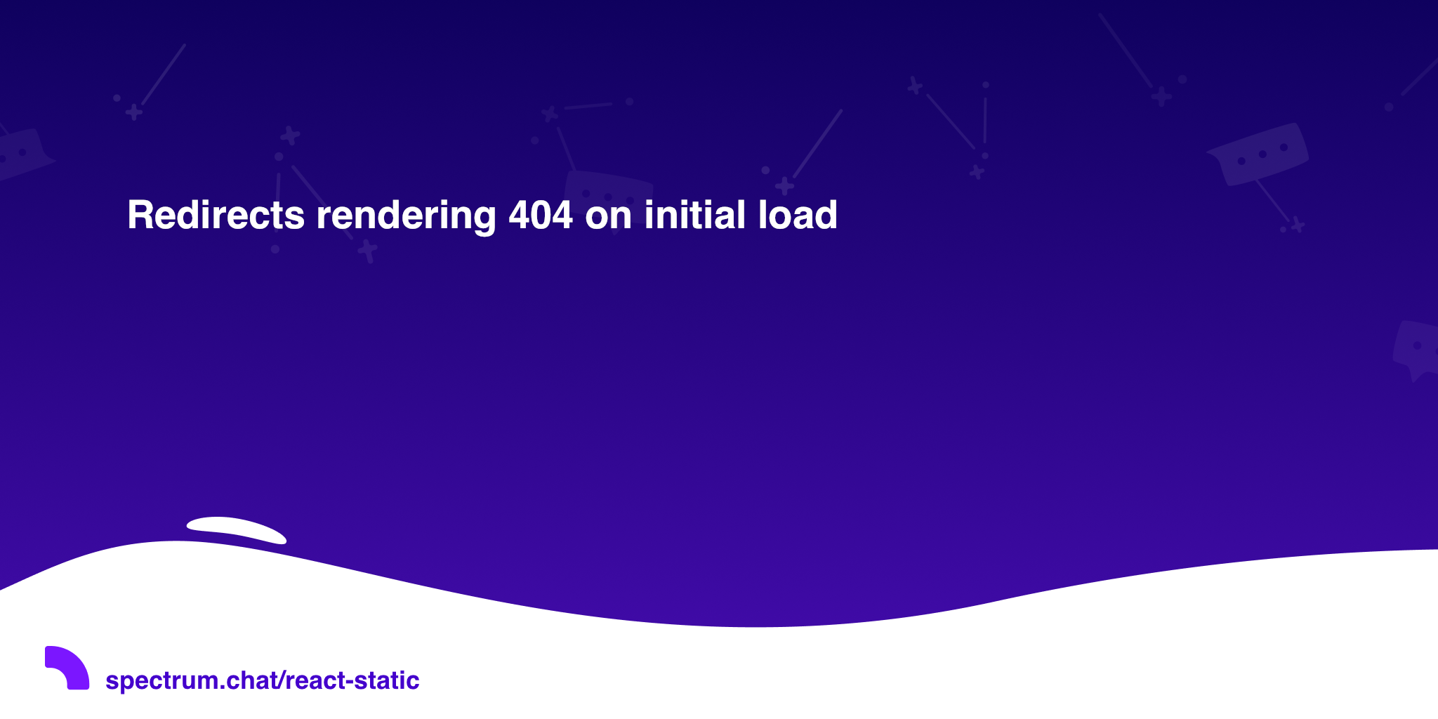 Redirects rendering 404 on initial load · React Static
