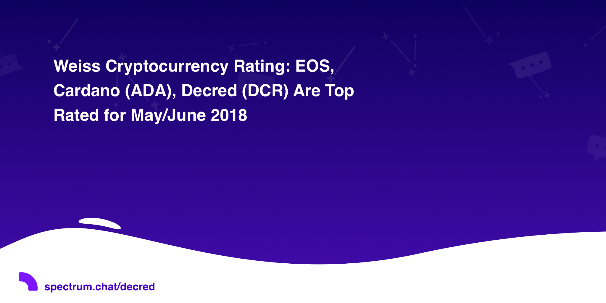 Weiss Cryptocurrency Rating: EOS, Cardano (ADA), Decred (DCR) Are