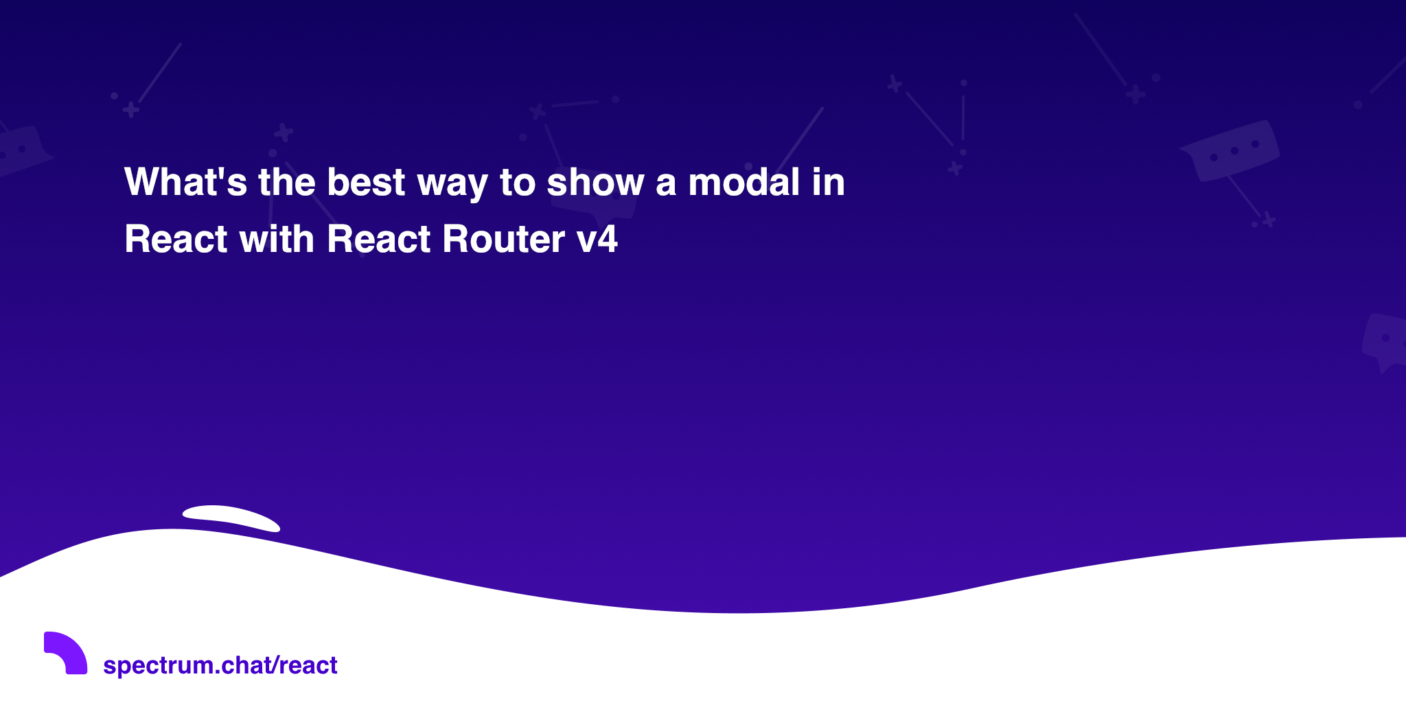 What's the best way to show a modal in React with React