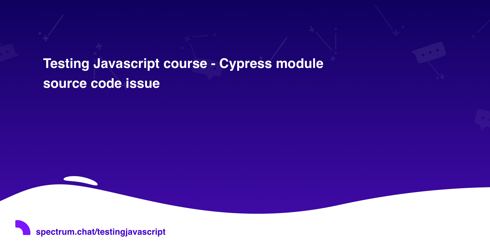 Testing Javascript course - Cypress module source code issue