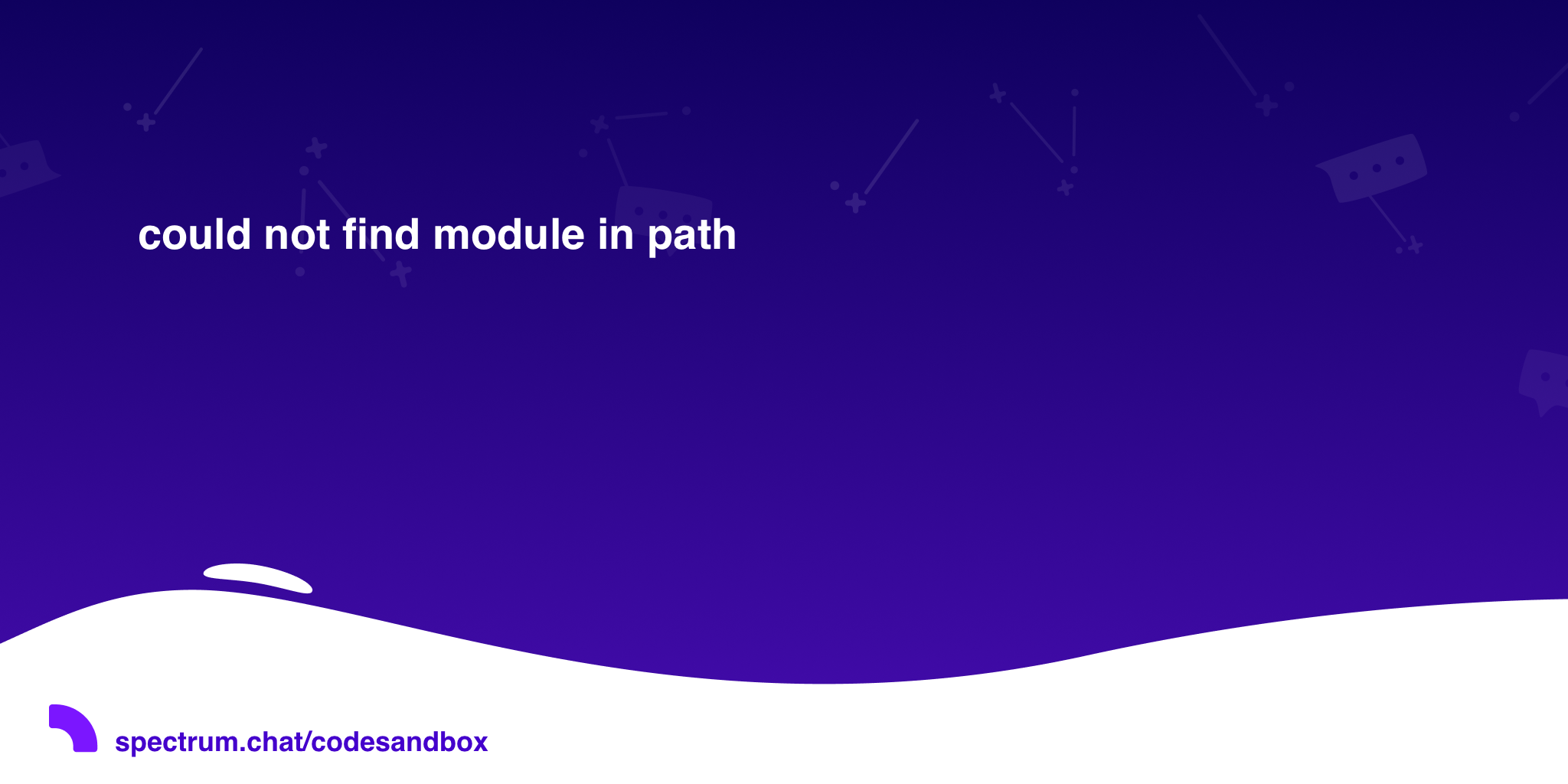 could not find module in path · CodeSandbox