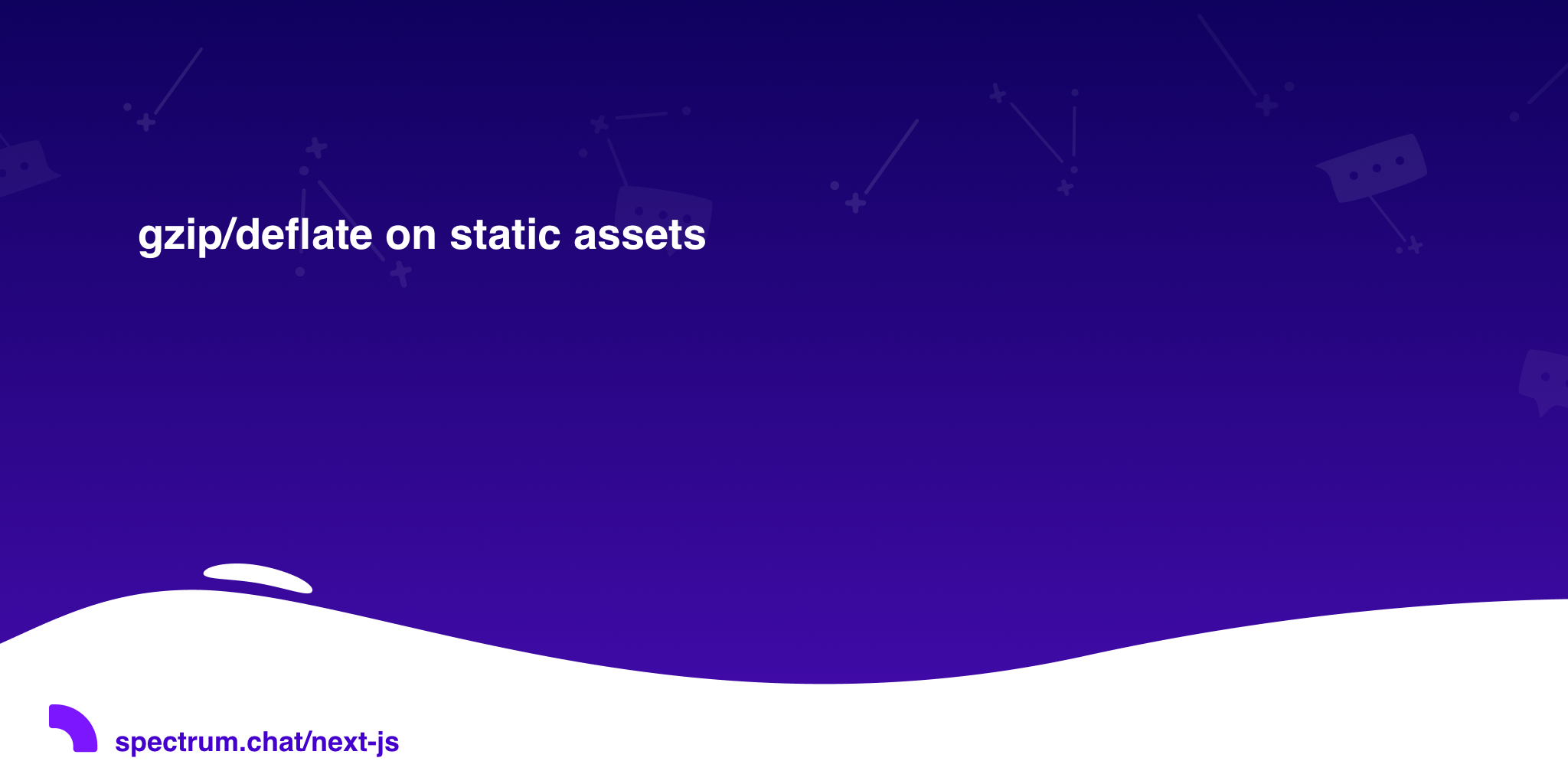 gzip/deflate on static assets · Next js