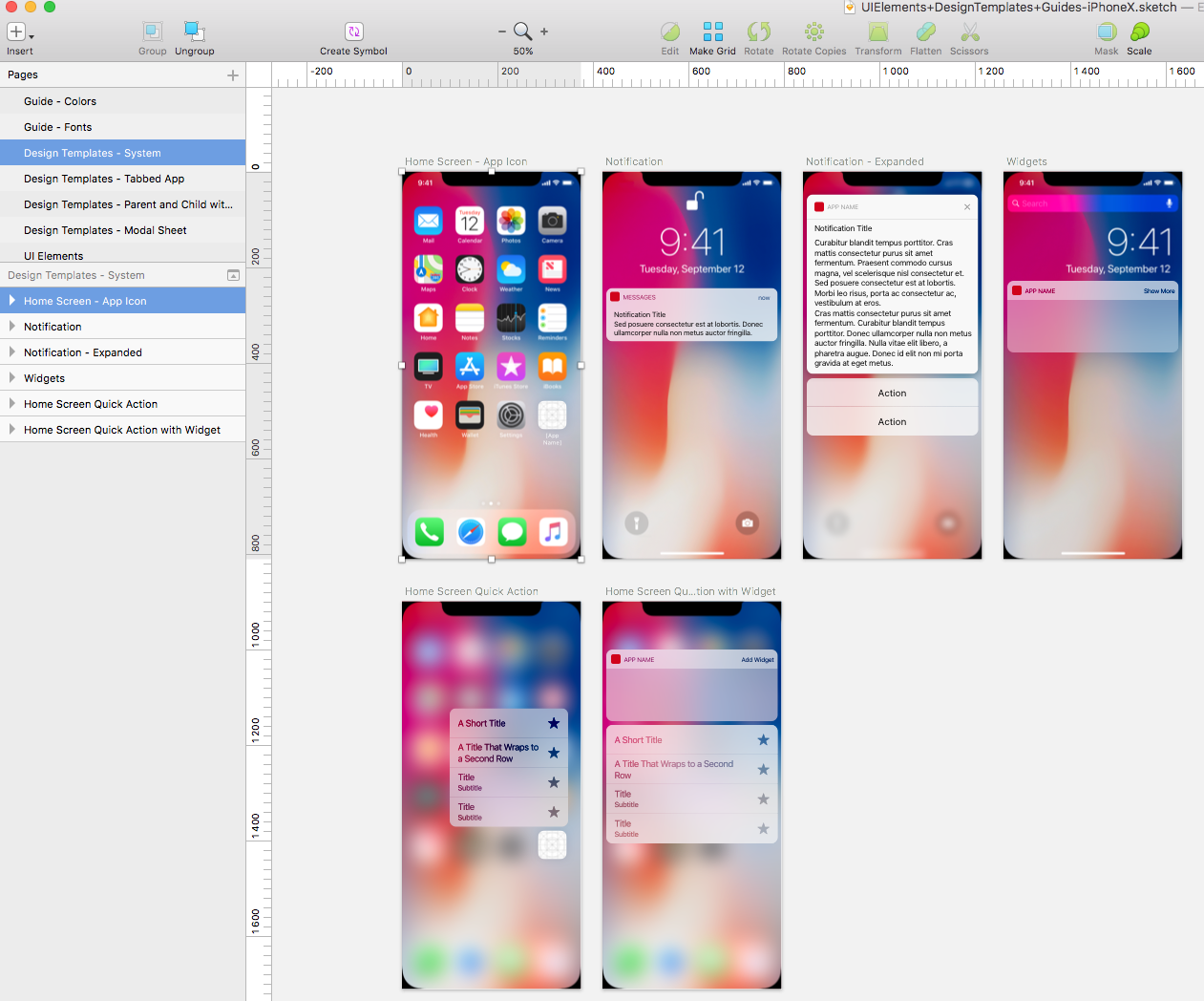 iPhone X Template for Sketch · Sketch